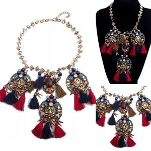 """""""Britany"""" Glam Statement Necklace"""